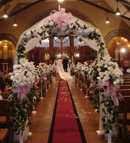 Arreglos de iglesias para boda - Imagui